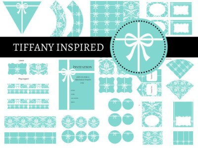 Tiffany-Party-Package-Tiffany-Party-Tiffany-Printables-Tiffany-and-Co-Tiffany-Blue-Tiffany-Digital-Papers-bridal-shower-baby-shower