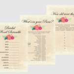 Free Printable Bridal Shower Games