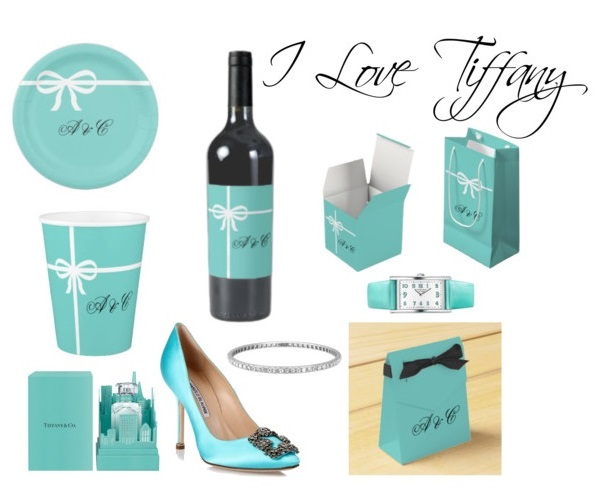 tiffany inspired bridal shower party supplies