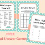 FREE Mint Bridal Shower Game Printables