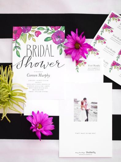 Floral garden bridal shower bridal shower ideas themes for Flower bridal shower invitations