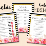 FREE Peonies Printable Bridal Shower Games
