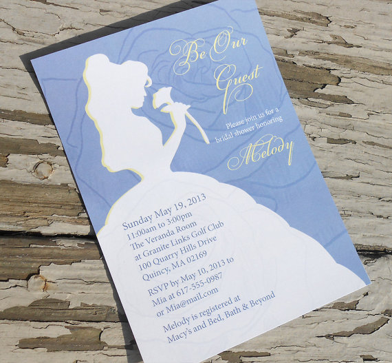 Disney Bridal Shower Ideas Invitations