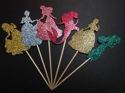 princess cupcake toppers classic