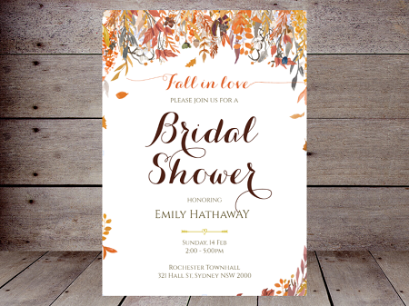 falling in love bridal shower invite
