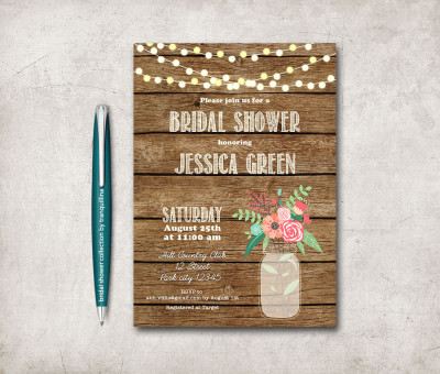 Mason jars bridal shower ideas bridal shower ideas themes bridal shower invitation printable rustic bridal shower invitation mason jar bridal shower invite filmwisefo