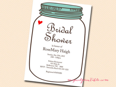 Mason Jars Bridal Shower Ideas - Bridal Shower Ideas - Themes