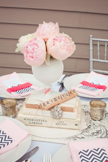 Vintage modern bridal shower ideas themes