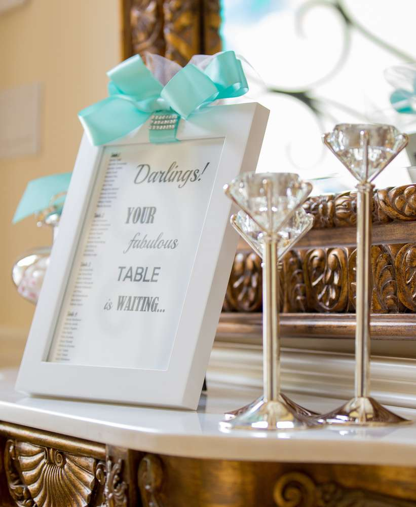 Breakfast at Tiffany\'s Bridal Shower - Bridal Shower Theme