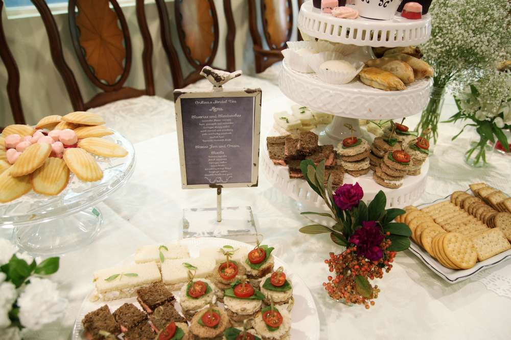 Bridal Tea Party Food Ideas
