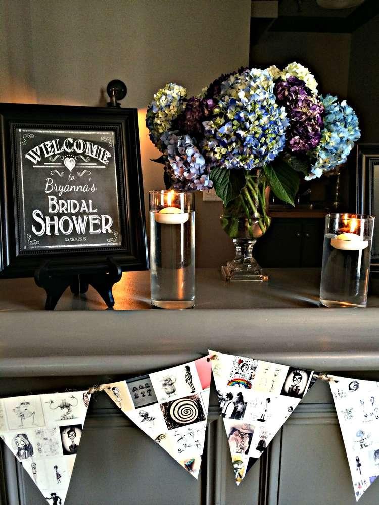 tim burton inspired bridal shower - bridal shower ideas