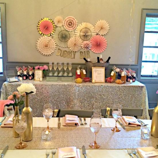 Bubbly Bar Bridal Shower Ideas Themes