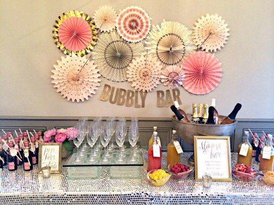 Bubbly Bar Bridal Shower - Bridal Shower Ideas - Themes