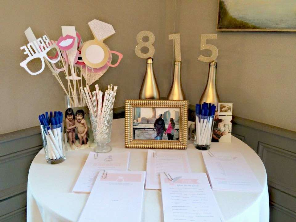 bubbly bar bridal shower - bridal shower ideas