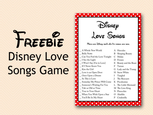 Influential image with regard to free printable disney bridal shower games