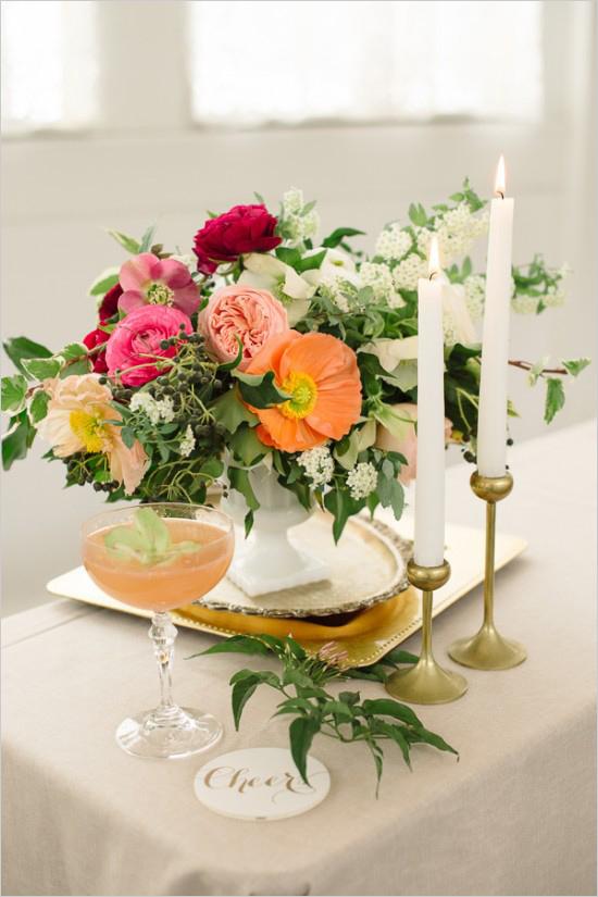 Elegant Spring Bridal Cocktail Party Bridal Shower Ideas