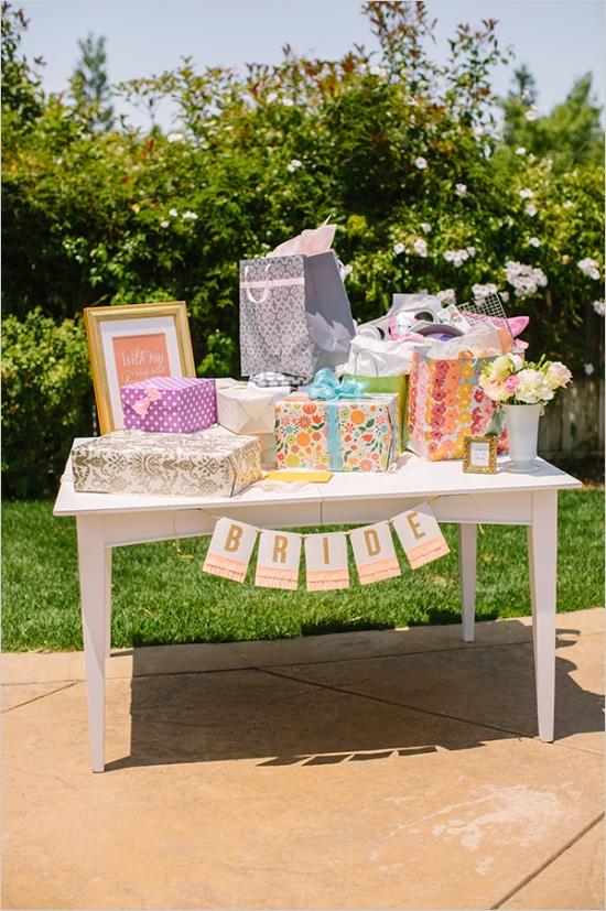 Elegant Vintage Backyard Bridal Shower Gifts