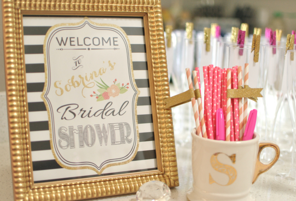f2b4590bbef2 Modern Kate Spade Inspired Bridal Shower - Bridal Shower Ideas - Themes