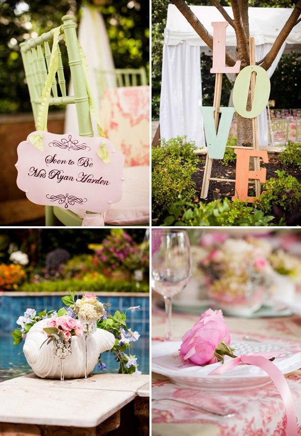 Outdoor Vintage Lace Tea Party Bridal Shower Art  ...