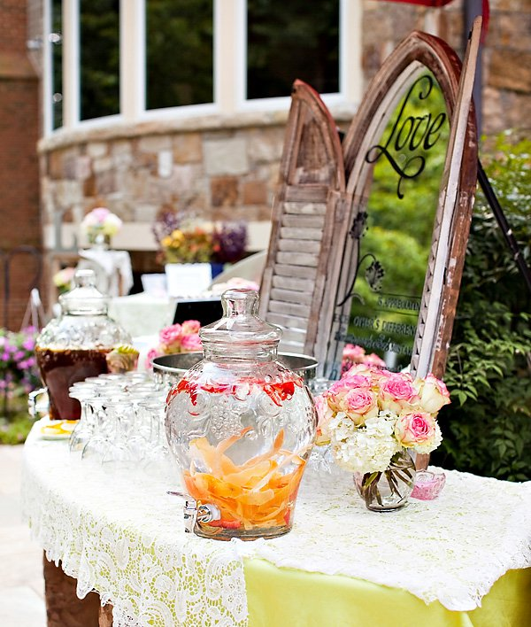 outdoor vintage lace tea party bridal shower drinking