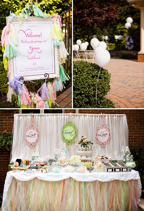 Outdoor vintage lace tea party bridal shower bridal for How to decorate for a bridal shower at home