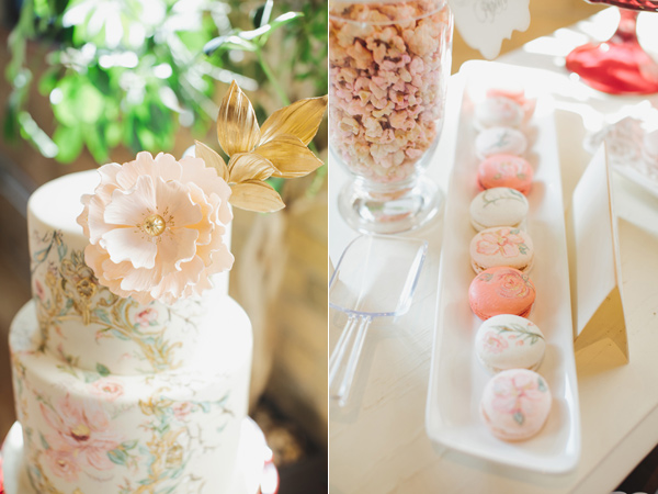 whimsical secret garden inspired bridal shower treats