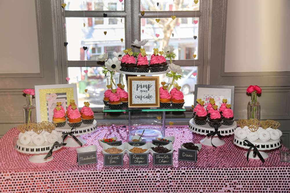 sophisticated kate spade inspired bridal shower