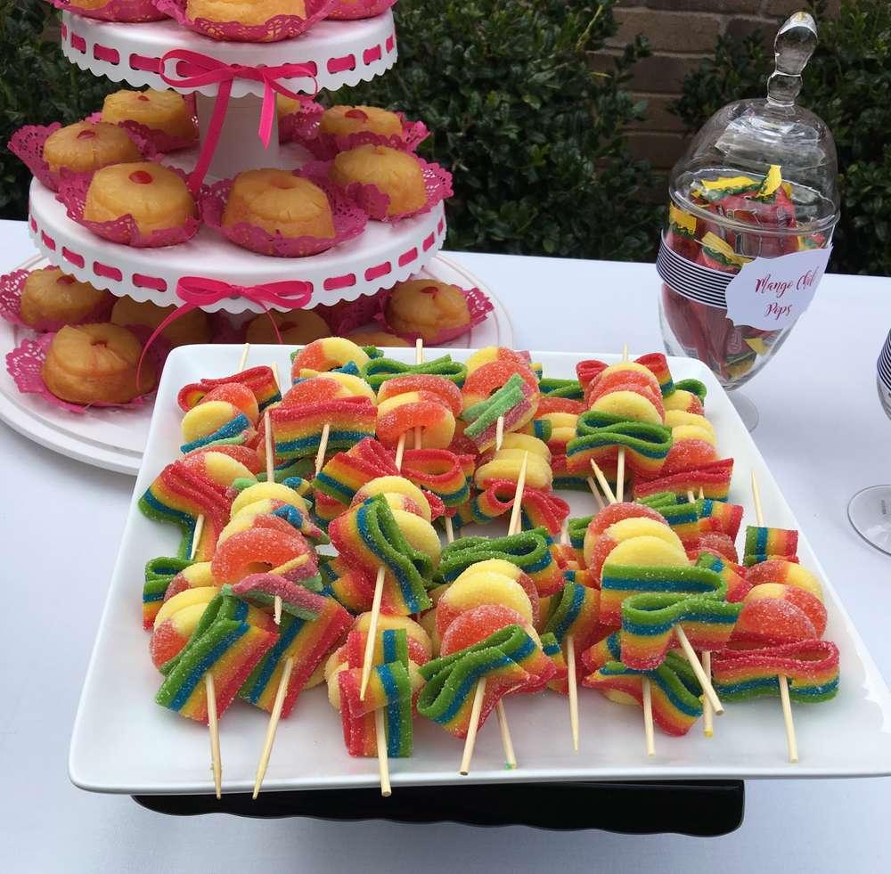 colorful spanish garden shower candies