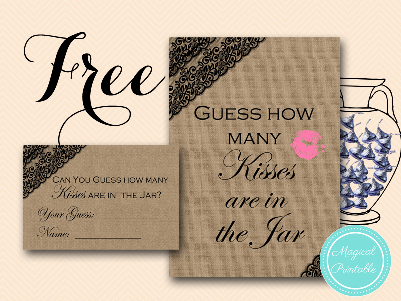 free printable bridal shower game featuring a stunning black lace on a burlap design