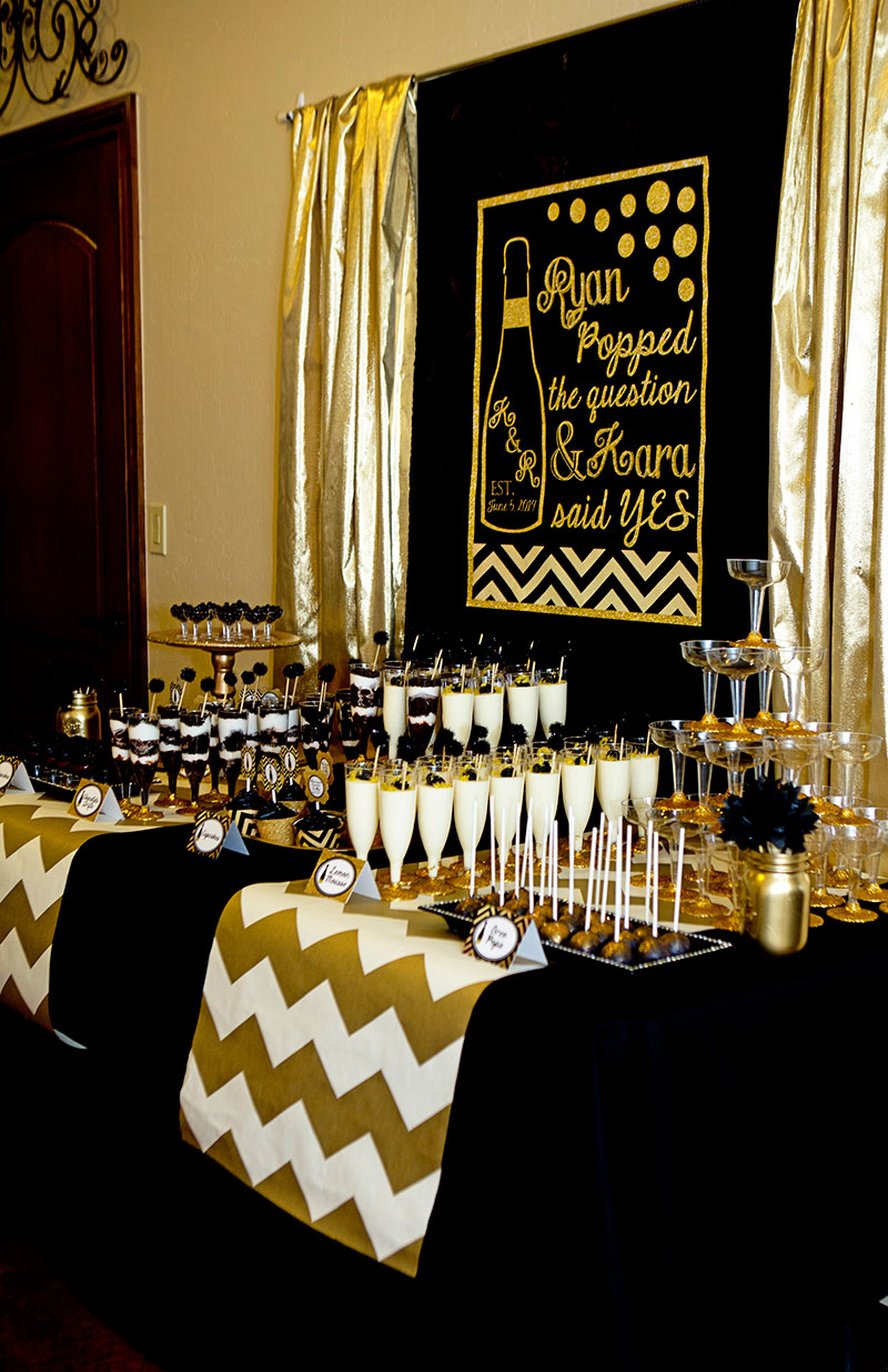 Gold And Black Bridal Shower Ideas Themes Man 50th Birthday Party Decorations Centerpiece