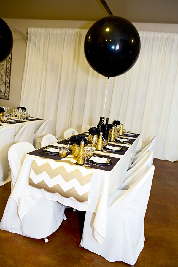 Gold And Black Bridal Shower Ideas Themes