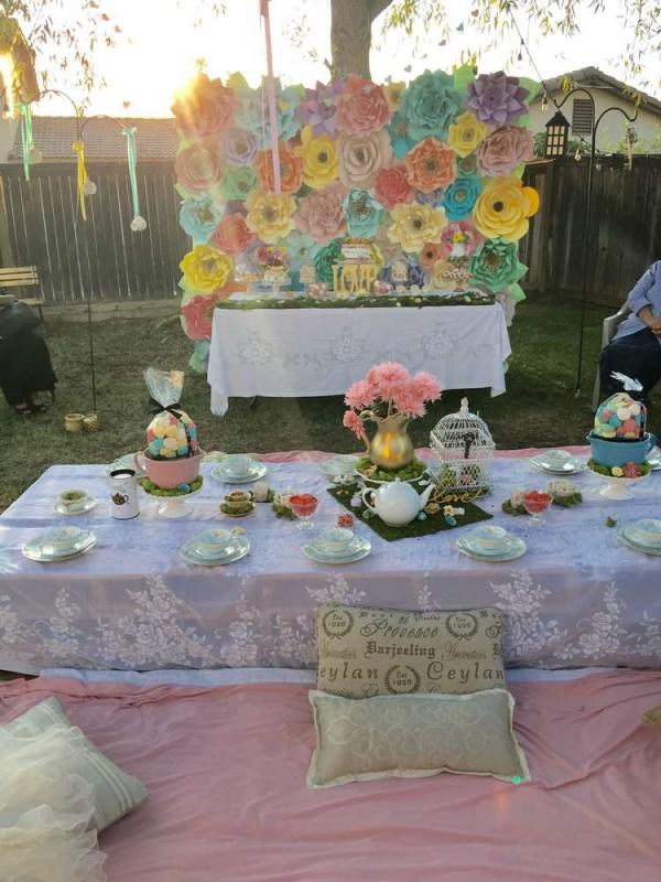 Bridal Party Flower Ideas : Luscious flower bridal tea party shower ideas