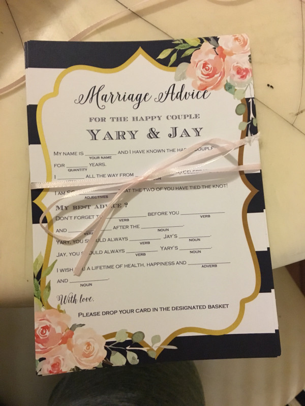 marriage-advice-bridal-shower-activities-tied-with-ribbon