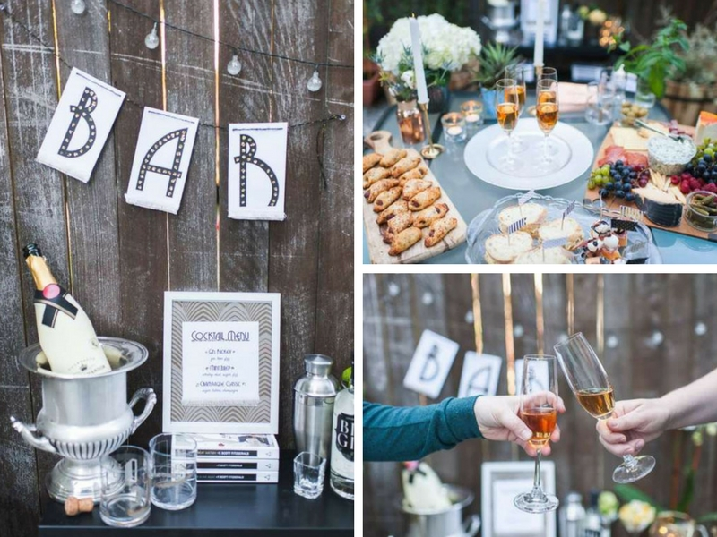 Outdoor Great Gatsby Party - Bridal Shower Ideas - Themes