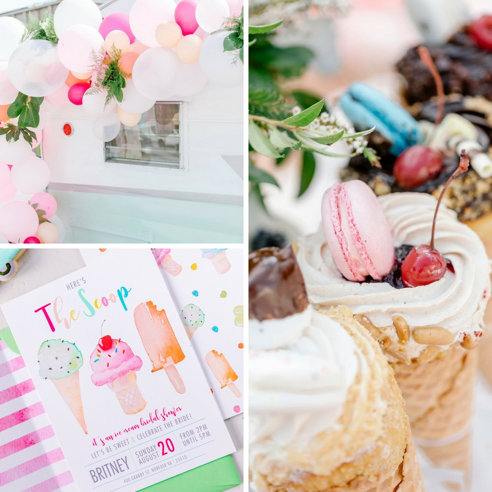 60\'s Inspired Ice Cream Social Bridal Shower - Bridal Shower Ideas ...