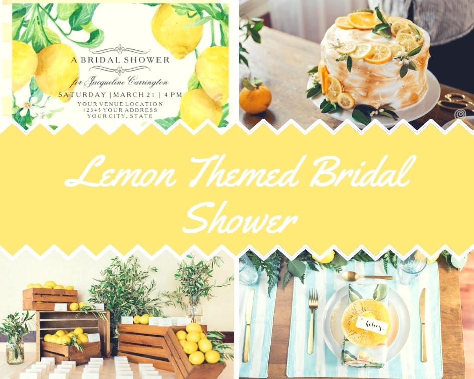 lemon themed bridal shower ideas
