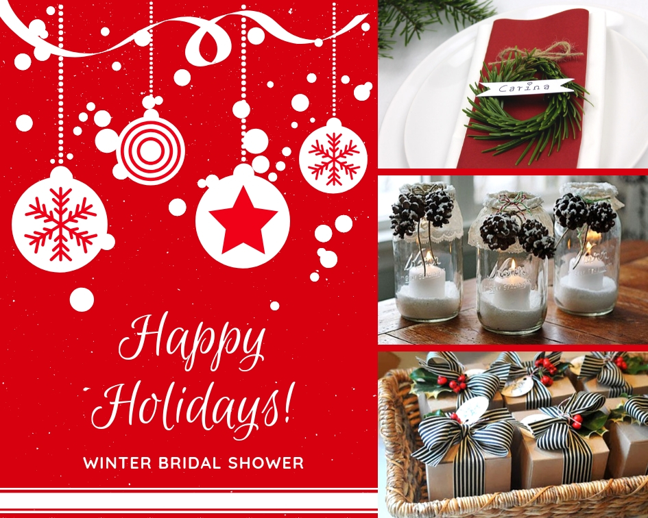 winter christmas bridal shower ideas