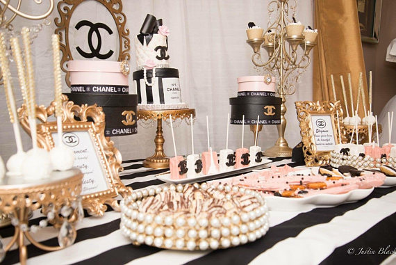 chanel inspired bridal shower ideas