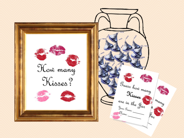 image regarding Guess How Many Kisses for the Soon to Be Mrs Free Printable named Totally free Printable Kitchen area Shower Video games - Kitchen area Appliances