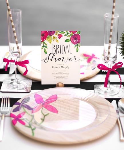 Fl Garden Bridal Shower Table Setting