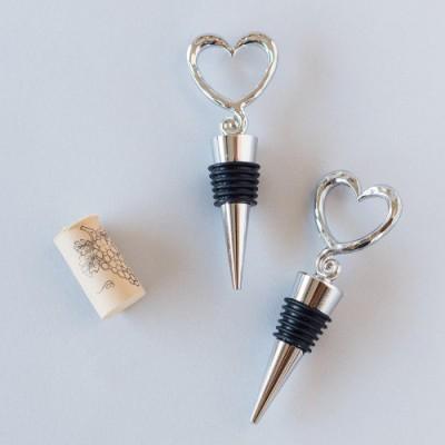 Open Heart Wine Bottle Stoppers