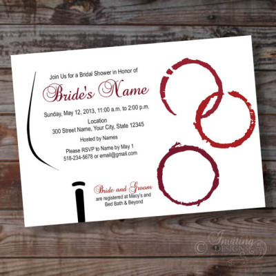 Wine Theme Custom Bridal Shower