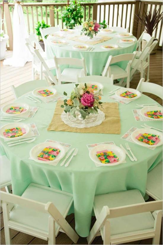 Mint And Peach Vintage Bridal Shower Bridal Shower Ideas Themes