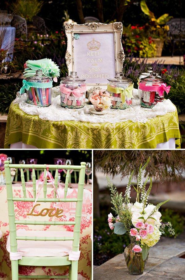 Outdoor Vintage Lace Tea Party Bridal Shower Bridal Shower Ideas